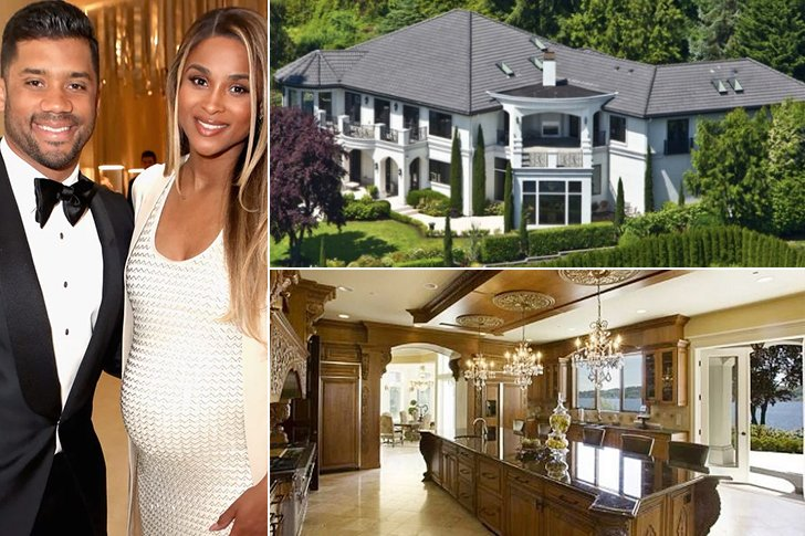 Their Mansion Is To Die For Seattle Seahawks Quarterback Russell Wilson Shares With His Wife RB Singer Ciara A Beautiful That Sits On