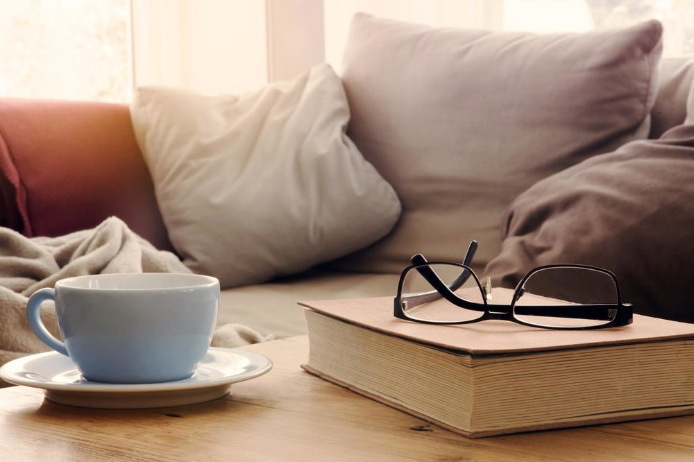 You can also enjoy a staycation by spending your day drinking your favorite beverages while reading your favorite book!