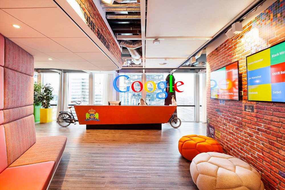 Google's main headquarter lies in California which caters more than 5,000 employees in its 12-story complex building.